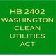 Coalition supports Washington Clean Utilities Act.