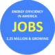 Energy jobs are mostly in energy efficiency