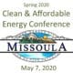 Clean & Affordable Energy Conference – May 7, 2020, Missoula, MT