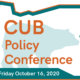 10th Annual CUB Policy Conference (Virtual) – October 16